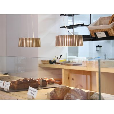 Shio Pendant Lamp Yellow, Yes, Small, Transparent Cable