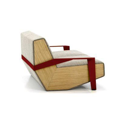 Silver Lake 2 Seater Sofa with Arms B0211 - Leather Oil cirè, Tele Grey, Oak Natural, 230 x 106 cm