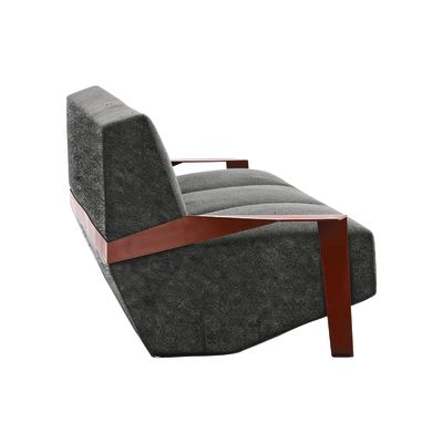 Silver Lake 3 Seater Sofa Padded Side A4139 - Remix 643 Vermilion, Tele Grey, 260 X 106