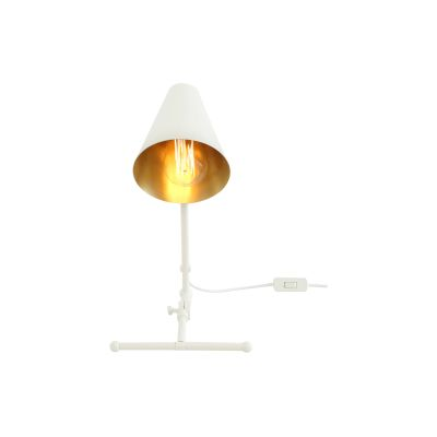 Sima Table Lamp Powder Coated White,  UL Plug