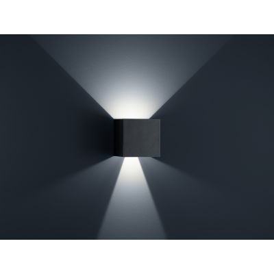 Siri 44 - L Wall Light black Matt