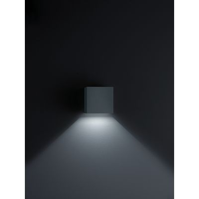 Siri 44 One-Sided Light Emission Wall Light Black Matt