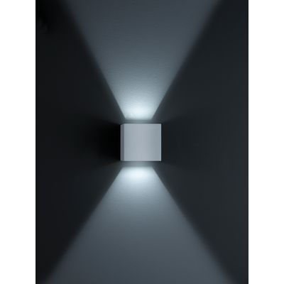 Siri 44 Wall Light Silver Grey