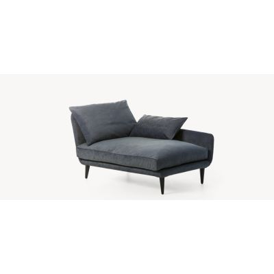 Sister Ray Chaise Lounge 80, Left, Charcoal, A4500 - Art.48045 - 206 beige