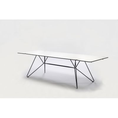 Sketch Dining Table White Compact Laminate, 240cm