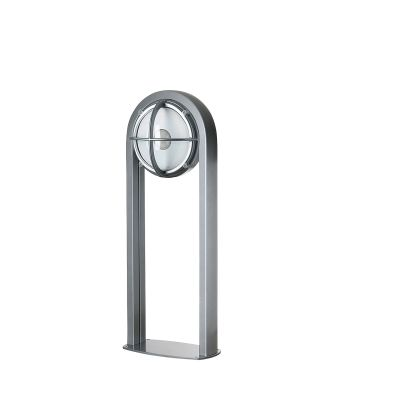Skot Bollard Light Clear,Aluminium Coloured,8,5W LED 3000K