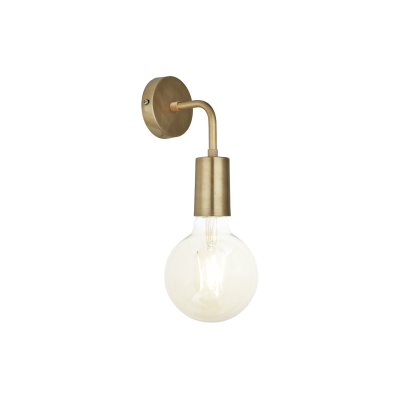 Sleek Edison Wall Light Brass