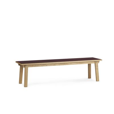 Slice Linoleum Bench Burgundy