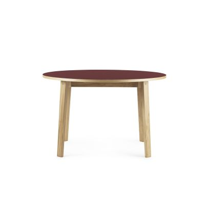 Slice Linoleum Round Dining Table Burgundy, Ø 120 cm
