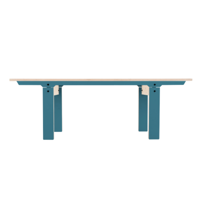 Slim 04 Small Bench Stone Blue Grey