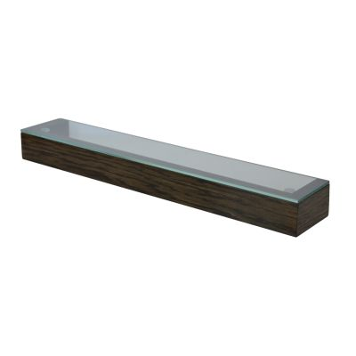 Slimline Shelf with Glass Top Dark Oak