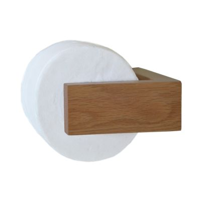 Slimline Toilet Roll Holder Wall Natural Oak
