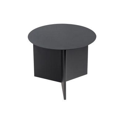 Slit Round Side Table - Ex display Black, 45 cm