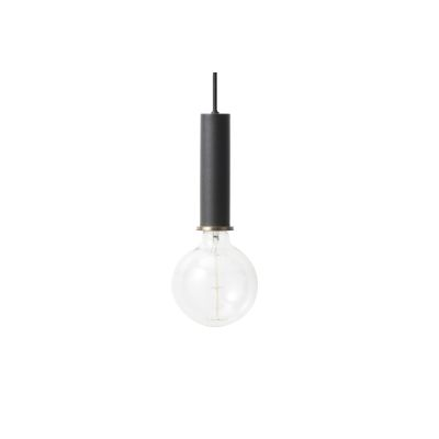 Socket Pendant Light - Set of 2 Black, High