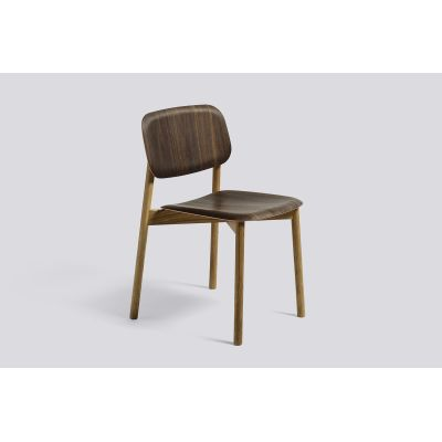 Soft Edge 12 Dining Chair with Wood Frame Smoked Seat and Back, Clear Lacquered Frame