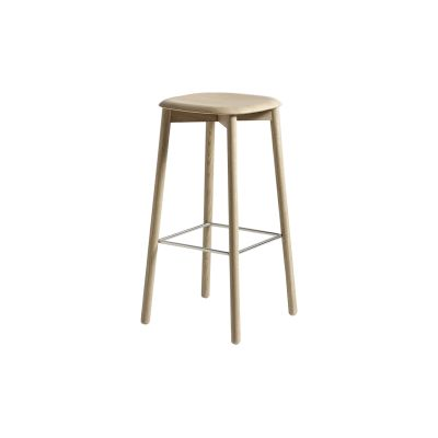 Soft edge 32 stool High, Matt Lacquered Oak, Standard Glider