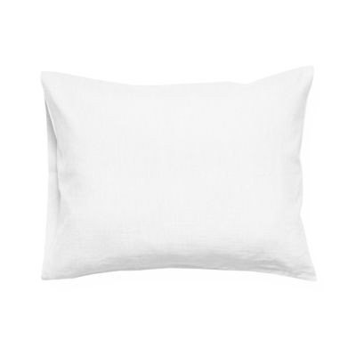 Soft white linen pillowcase 1 pillowcase 50x75cm