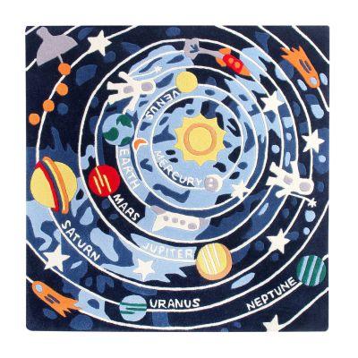 Solar System: Childrens Wool Rug Solar System: Childrens Wool Rug