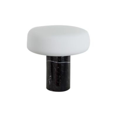 Solid Table Lamp Small, Nero Marquina Marble
