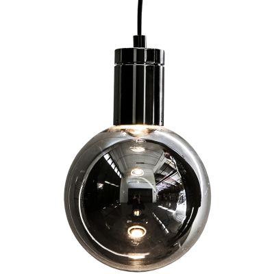 Solitario Pendant Lamp Polished Black Nickel, Smoke