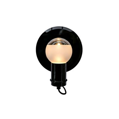 Solitario Small Wall Lamp Light Satin Bronze, Smoke