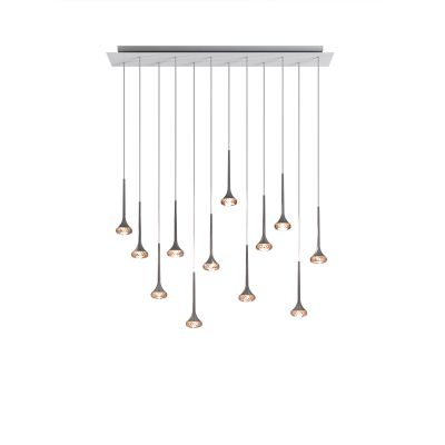 SP FAI 12 R Pendant Light Crystal, White + Chrome