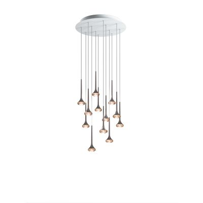 SP FAIR 12 Pendant Light Crystal, White + Chrome