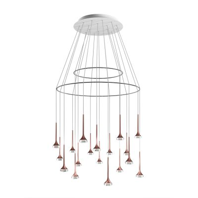 SP FAIR 18 Pendant Light Crystal, White + Chrome
