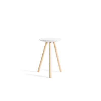SPA side table clear ash legs