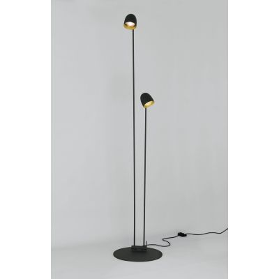 Speers Floor Light Black-Copper