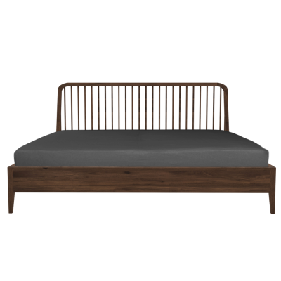 Spindle bed - Queen Size Walnut