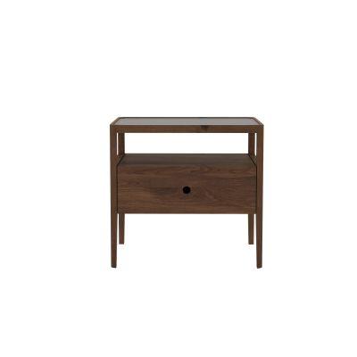 Spindle Bedside Table  Walnut