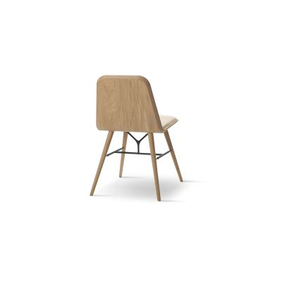 Spine Chair Oak lacquered, Nubuck 501 Light sand
