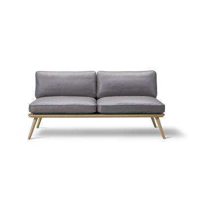 Spine Lounge Sofa - 2 Seater Oak black lacquered, Remix 2 113