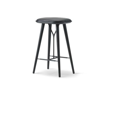 Spine Stool Oak smoked stained, Nubuck 512 Olive
