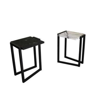 Splay Side Table Black/White