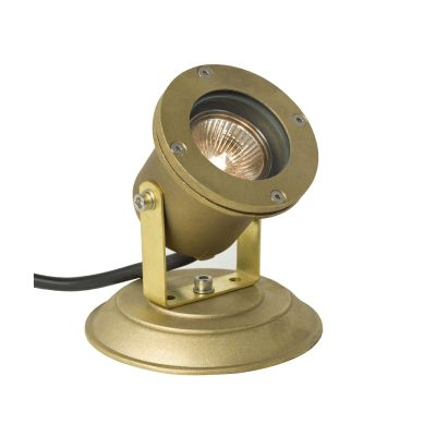 Spotlight for Submerged or Surface Use 7604 Weathered Brass