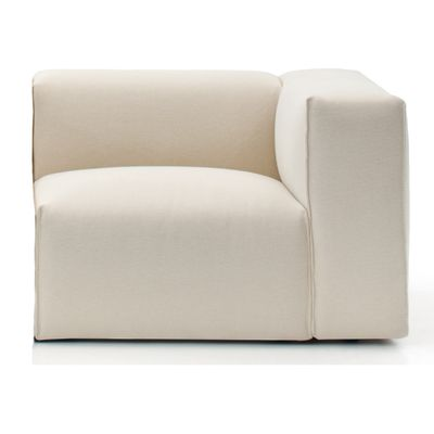 Spring Lateral element Lounge Chair 120, Right, B0225 - Leather Saffiano yellow