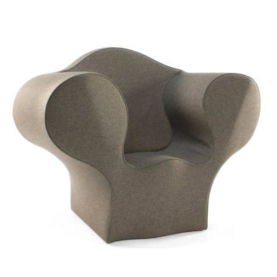 Spring Soft Easy Armchair - New Divina 3 106 white - W, Small