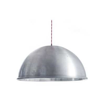 Spun Raw Pendant Light Raw Aluminium, Large
