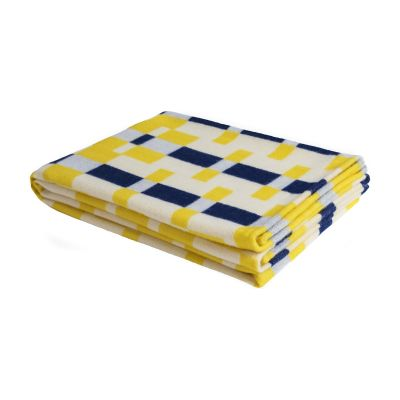 Square Throw Yellow Blue