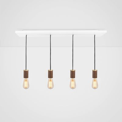 Squirrel Cage Walnut Ceiling Light  Squirrel Cage Walnut Pendant
