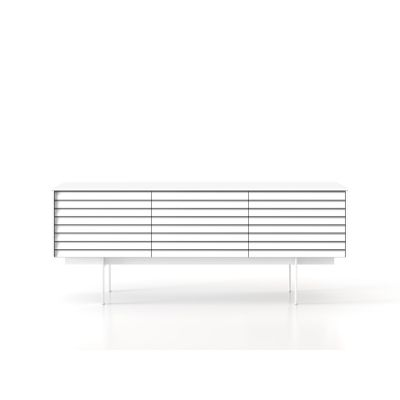 SSX311 Sussex Sideboard White Textured Metal, White Open Pore Lacquered On Oak