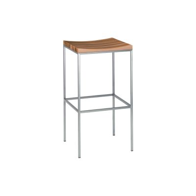 ST07 Grace Stool Contact Oil Treated Walnut, Jet Black Powder Coated Steel, High