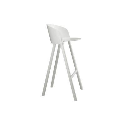 ST12 Other Stool Silk Grey, Coloured Oak Veneer