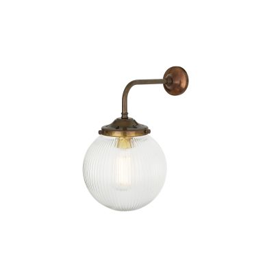 Stanley Holophane Wall Light Satin Brass