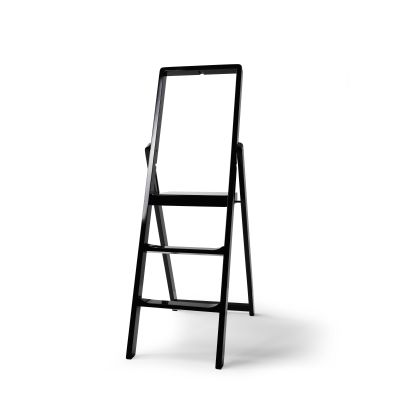 Step Stepladder Black Stained Oak