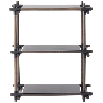 Stick System Shelving, 1x3 Grey