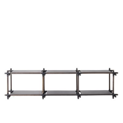 Stick System Shelving, 3x2 Grey