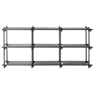 Stick System Shelving, 3x3 Black